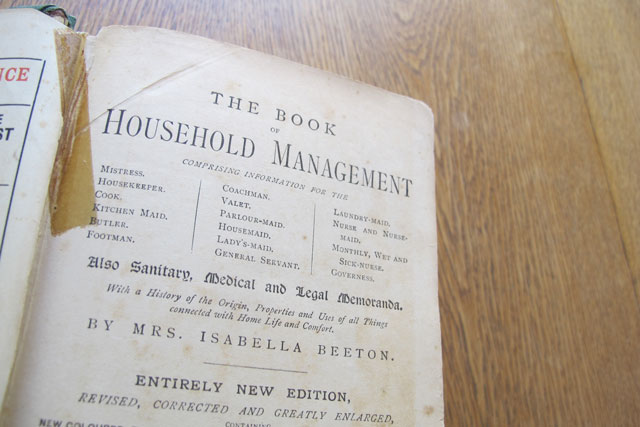 Old School: Part 1 Isabella Beeton and Household Management